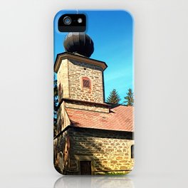 Maria Rast forest chapel 3 iPhone Case