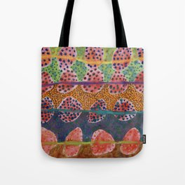 Red Round And Dotted Forms  Tote Bag