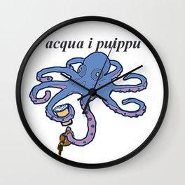 Coffee Octopus Wall Clock