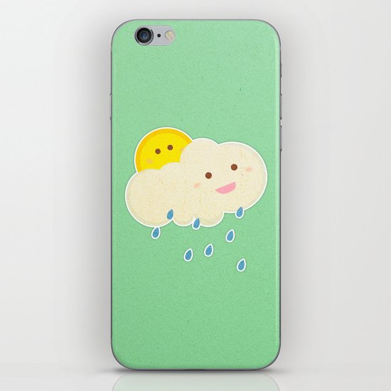 Raining day iPhone & iPod Skin