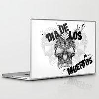 dia de los muertos Laptop & iPad Skins featuring Dia De Los Muertos by Digi Treats 2