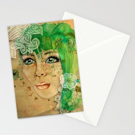 Green Eyes Stationery Cards