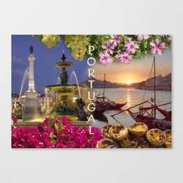 Montage Portugal Canvas Print