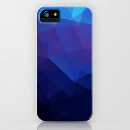 Blue abstract background iPhone Case