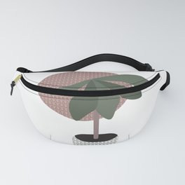 Bohemian Potted Pattern Plant  Fanny Pack