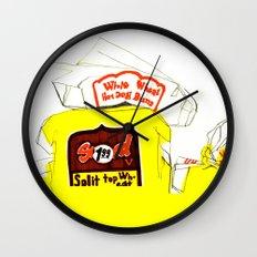 Split Top Wheat Wall Clock
