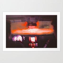 Acid Road Art Print