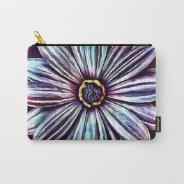 Purple Flower Art Carry-All Pouch