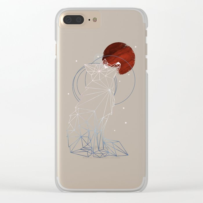 Fox in the Stars Clear iPhone Case
