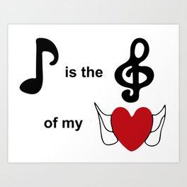 Music lovers Art Print