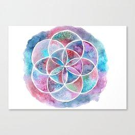 Watercolor Mandala II Canvas Print
