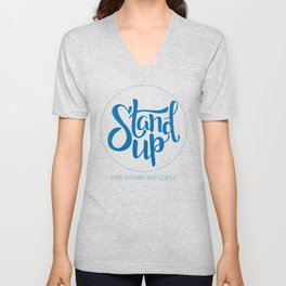 Stand Up: For Syrian Refugees (All proceeds to UN Refugee Agency) Unisex V-Neck
