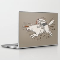 mononoke Laptop & iPad Skins featuring Princess Mononoke by Alicyn