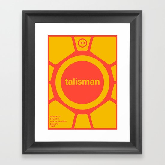 talisman single hop Framed Art Print