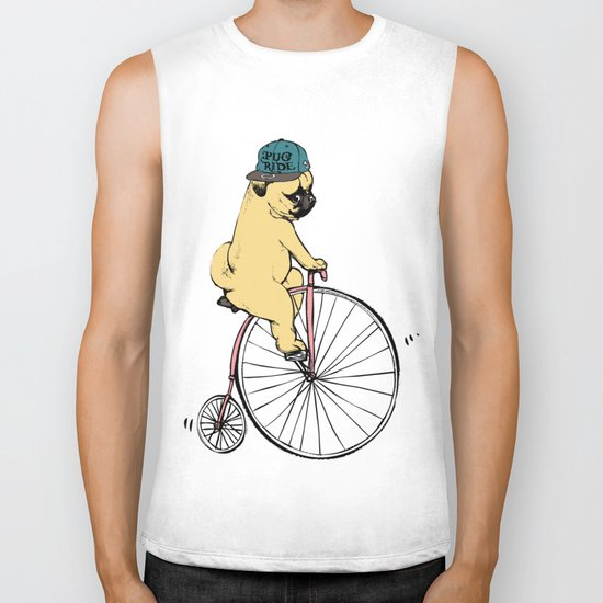 Pug Ride Biker Tank