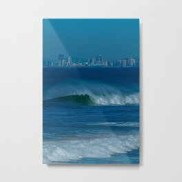 Surf and the City (vert) Metal Print