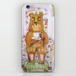Hazel, tea time bear iPhone Skin