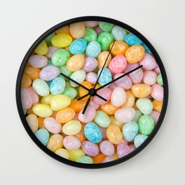 Happy Easter Speckled Jelly Beans Wall Clock