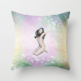 heure de couleur - noir Throw Pillow