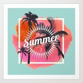 Hello summer 1 Art Print