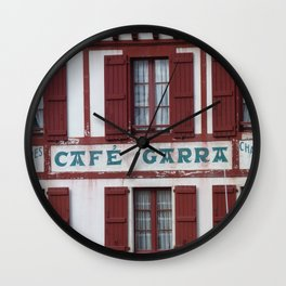 Basque Café Wall Clock