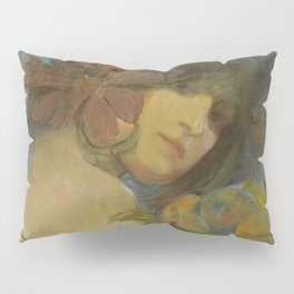 "Alphonse Mucha ""Study for a poster - Fruit"" Pillow Sham"