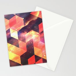Geometric Fire Stationery Cards