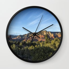 Early Evening Light on the Red Rocks of Sedona Wall Clock