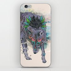 Journeying Spirit (wolf) iPhone Skin