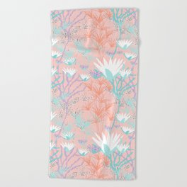 Lotus + Papyrus Garden Beach Towel