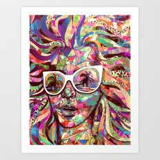 Sun Glasses In a Summer Sun Art Print