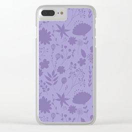 Hand painted ultraviolet modern floral illustration Clear iPhone Case
