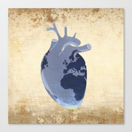 The earth is our heart - EARTH DAY '16 - all artist profits to be donated Canvas Print
