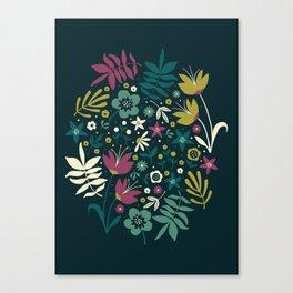 Midnight Florals (pop) Canvas Print