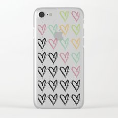 Hearts Hearts Hearts Clear iPhone Case