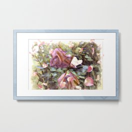 Petals In The Wind Metal Print
