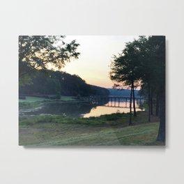 Sunrise Over the Bridge Metal Print