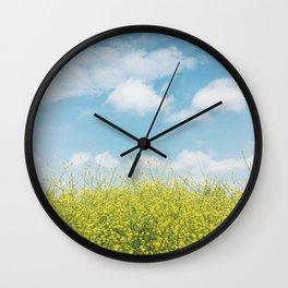 Golden Meadow Wall Clock
