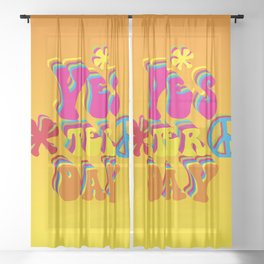 YES ter day Sheer Curtain