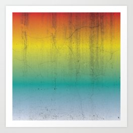 Rainbow Concrete Art Print