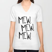 mew V-neck T-shirts featuring Mew. by Jenna Settle