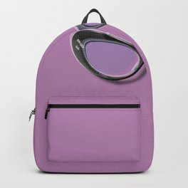 Retro Glasses Funky Pop Purple Backpack