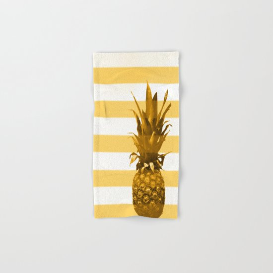 Pineapple with yellow stripes - summer feeling Hand & Bath Towel