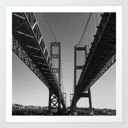 Bridges - Tacoma, WA Art Print