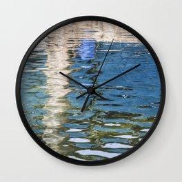 Reflecting Blues Wall Clock
