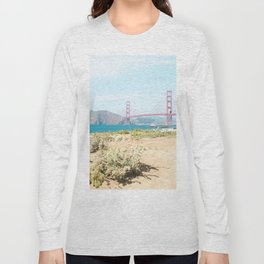 Golden Gate Bridge Beach Long Sleeve T-shirt
