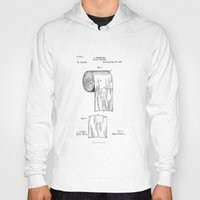 toilet Hoodies featuring Toilet Paper Patent Drawing by Patent Drawing