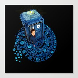 10th Doctor at arch of time zone T-Shirt Canvas Print