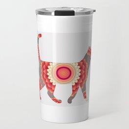 Spiral cat Travel Mug