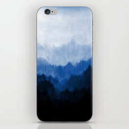 Mists - Blue iPhone Skin